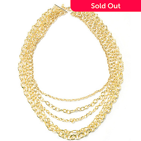 127-830 - Milano Luxe Gold Embraced™ 22'' Five-Strand Multi Chain Necklace