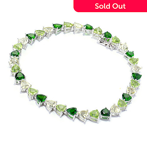 127-845 - NYC II Peridot, Lemon Quartz & Chrome Diopside Tennis Bracelet