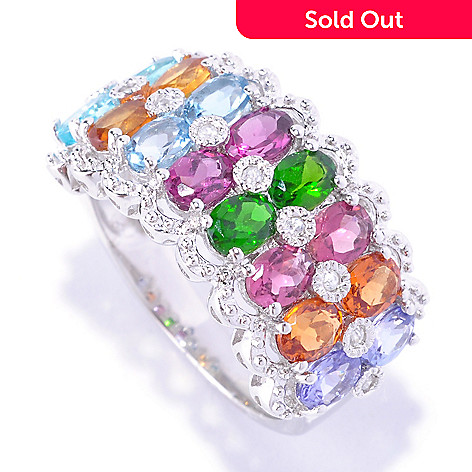 127-849 - NYC II 3.24ctw Multi Gemstone & White Zircon Band Ring