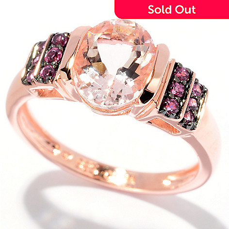127-856 - NYC II® 1.87ctw Morganite & Rhodolite Ring