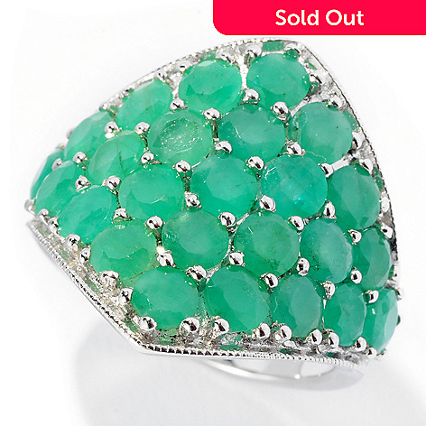 127-857 - NYC II™ 3.50ctw Sakota Emerald Diamond Shaped Ring