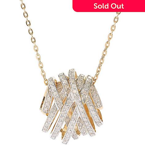 127-860 - Diamond Treasures 0.75ctw Diamond Crisscross Pendant w/ Chain