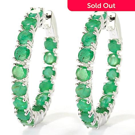 127-861 - NYC II™ 1.25'' 7.88ctw Sakota Emerald Inside-Out Hoop Earrings