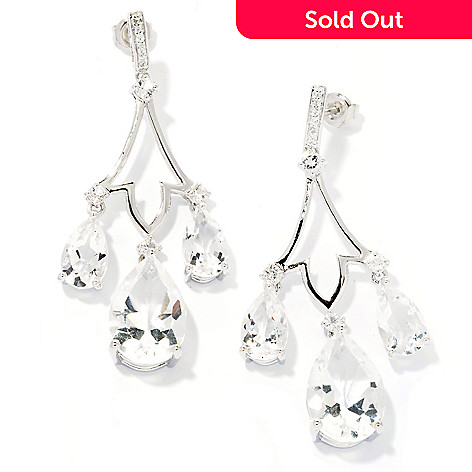 127-862 - NYC II™ 15.23ctw White Quartz Chandelier Earrings