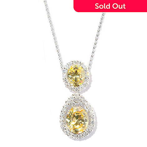 127-867 -  Brilliante® Platinum Embraced™ 8.82 DEW Simulated Diamond Halo Necklace
