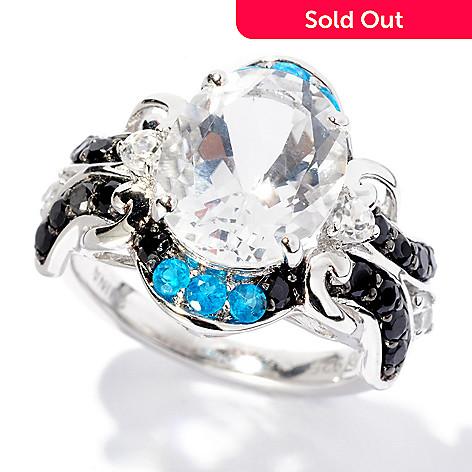 127-882 - NYC II™ 3.83ctw White Quartz & Multi Gemstone Ring