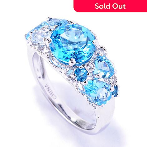 127-884 - NYC II™ 3.18ctw Multi Blue Topaz Ring