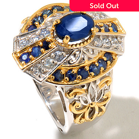 127-898 - Gems en Vogue 2.51ctw Blue & Silver Sapphire Polished Ring