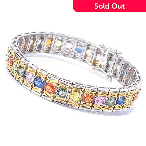 127-900 - Gems en Vogue Multi Sapphire Tennis Bracelet