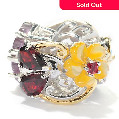 127-908 - Gems en Vogue 1.56ctw Multi Gemstone Garden Slide-on Charm
