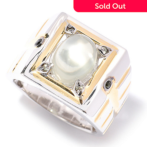 127-948 - Men's en Vogue 11 x 9mm Moonstone & Multi Gemstone Ring
