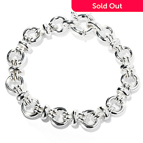 127-983 - SempreSilver® Polished Bold Circle Link Bracelet
