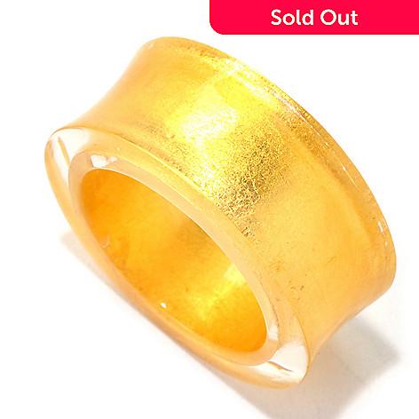 128-002 - Stefano Oro 24K ''Oro Puro'' Gold Foil & Resin Concave Ring