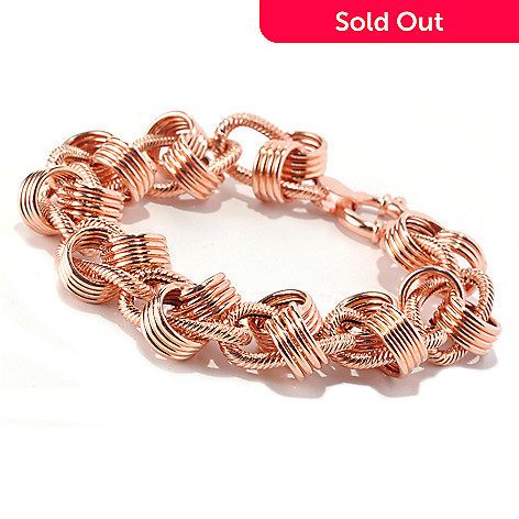 128-011 - Italian Designs with Stefano 14K Rose Gold Rosetta Moderna Bracelet