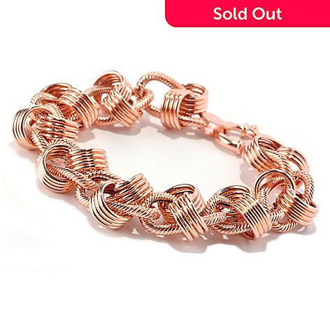 128-011 - Italian Designs with Stefano 14K Rose Gold Rosetta Moderna Bracelet