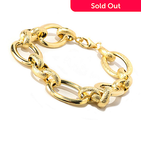 128-012 - Italian Designs with Stefano 14K Gold 7.25'' ''Oro Chic'' Bracelet, 6.36 grams