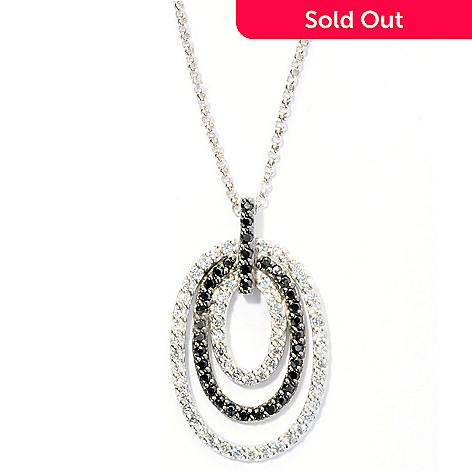 128-023 - Brilliante® Platinum Embraced™ 1.35 DEW Simulated Diamond Oval Pendant