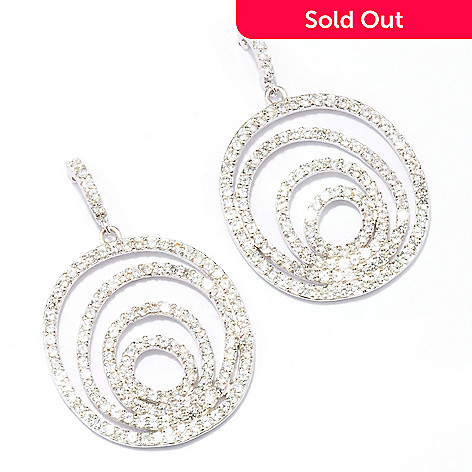 128-030 - Sonia Bitton for Brilliante® 3.50 DEW Round Cut Multi-Oval Drop Earrings