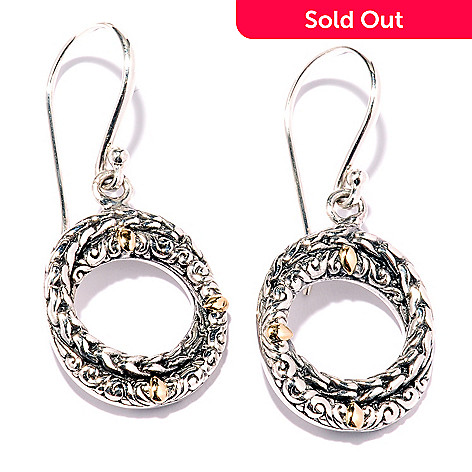128-057 - Artisan Silver by Samuel B. Circle Drop Earrings