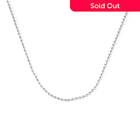 128-107 - Palatino™ Platinum Embraced™ 22'' Polished Bead Link Necklace