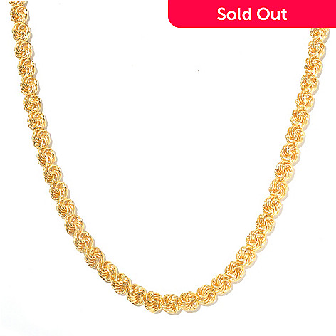128-117 - Portofino Gold Embraced™ 20'' Polished Rosetta Link Necklace