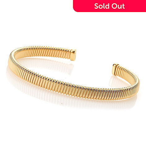 128-124 - Portofino Gold Embraced™ 7.25'' Dream Fit™ Cuff Bracelet