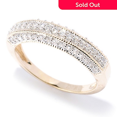 128-161 - Brilliante® Polished Milgrain Simulated Diamond Band Ring