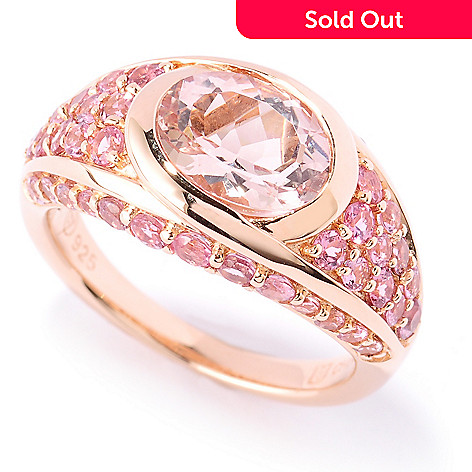 128-182 - Omar Torres 2.30ctw Morganite & Pink Tourmaline Ring
