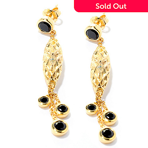 128-187 - Omar Torres Gemstone Diamond-Cut Drop Earrings