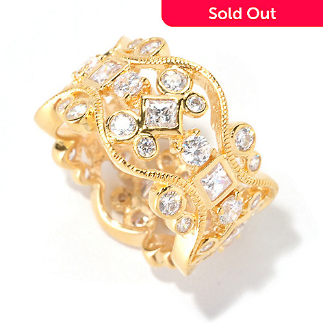 128-196 - Sonia Bitton 3.60 DEW Simulated Diamond Eternity Band Ring