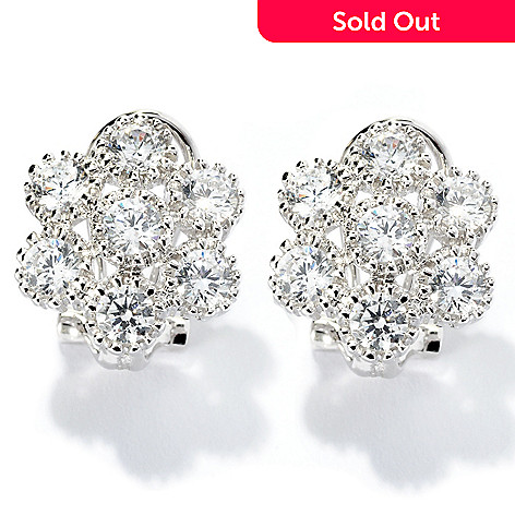 "128-229 - Sonia Bitton for Brilliante® 1.89 DEW Fancy Set ""Mimosa"" Flower Button Earrings"