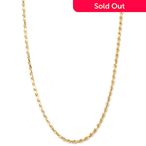 128-232 - Charles Garnier Gold Embraced™ 24'' Diamond Cut Rope Chain Necklace