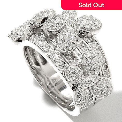 128-318 - Sonia Bitton for Brilliante® Platinum Embraced™ 1.55 DEW Round Cut Pave Butterfly Ring
