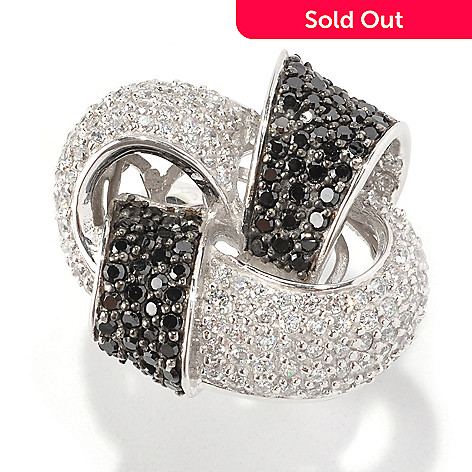 128-397 - Sonia Bitton Platinum Embraced™ 3.14 DEW Simulated Diamond Knot Ring