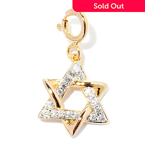 128-449 - NYC II™ White Zircon Star of David Drop Charm