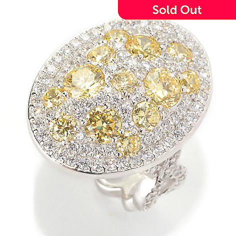 128-508 - Dare to Rare&trade by Lucy Platinum Embraced™ 4.67 DEW Simulated Diamond Oval Ring