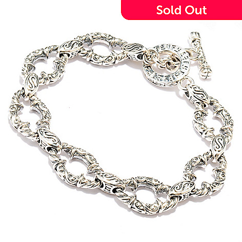 128-533 - Sterling Artistry by EFFY Two-tone Toggle Bracelet