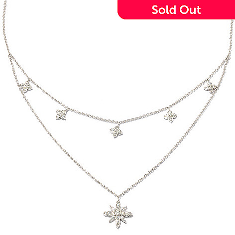 "128-590 - Sonia Bitton for Brilliante® 18"" 1.20 DEW Double-Layer Star Drop Necklace"