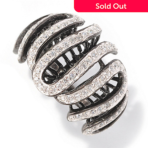 128-613 - Sonia Bitton 1.07 DEW Round Cut Simulated Diamond Swirl Ring