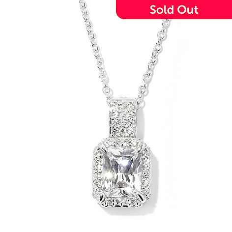 128-638 - RITANI Platinum Embraced™ 3.22 DEW Simulated Diamond Halo Pendant