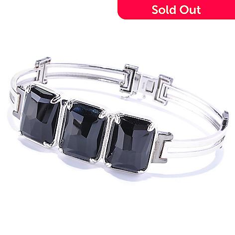 128-659 - Men's en Vogue 20 x 15mm Black Onyx Three-Stone Bracelet
