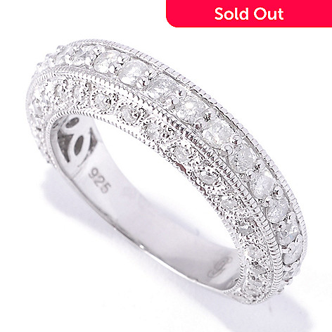 128-662 - Gem Treasures Sterling Silver 1.09ctw ''20-Stone 20-Years'' Diamond Anniversary Ring