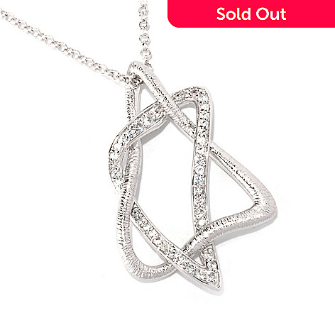 128-742 - Michelle Albala White Sapphire Star of David Pendant w/ 20'' Chain