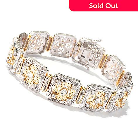 128-758 - NYC II 7.25'' White Zircon Square Link Bracelet