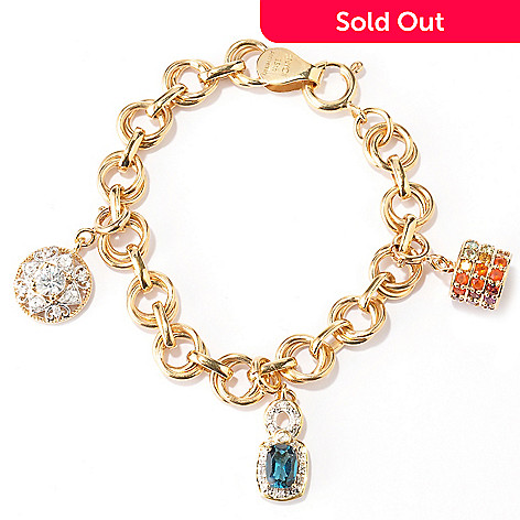 128-759 - NYC II™ Exotic Gemstone Interchangeable Charm Bracelet