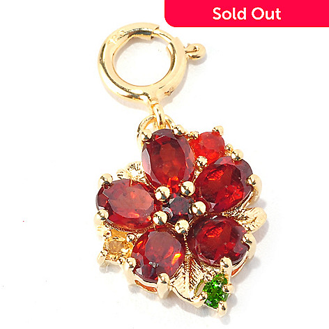 128-766 - NYC II™ Multi Gemstone Polished Flower Charm