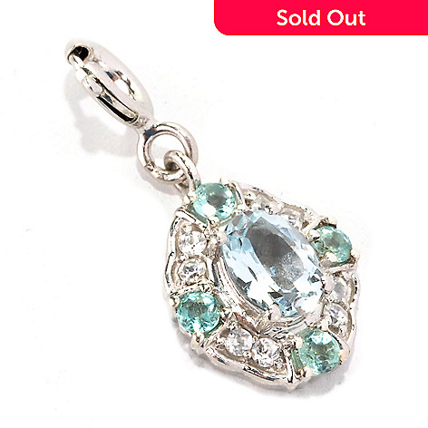 128-771 - NYC II™ Aquamarine, Apatite & White Zircon Drop Charm