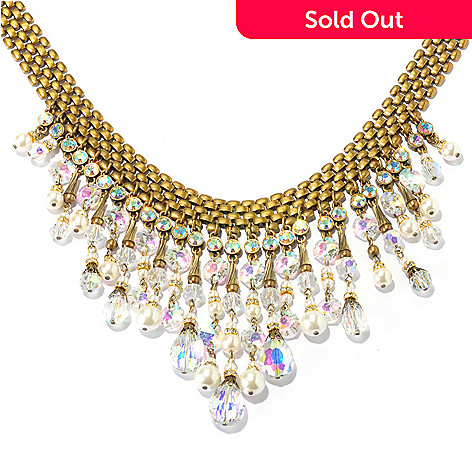128-793 - Sweet Romance Crystal & Glass 16'' 1950s-Inspired Collar Necklace