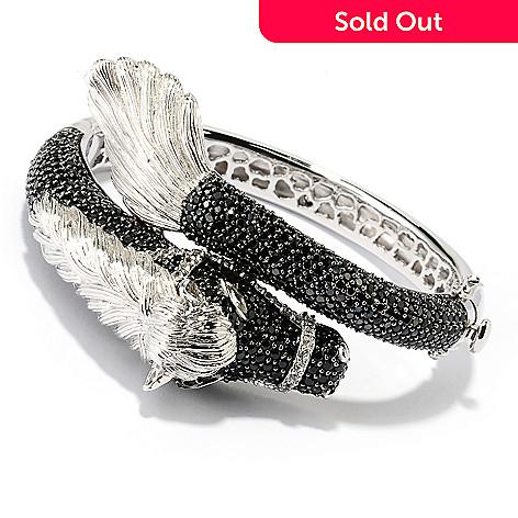 128-811 - Gem Treasures® Sterling Silver 6.75'' Spinel, Topaz & Crystal Horse Bracelet