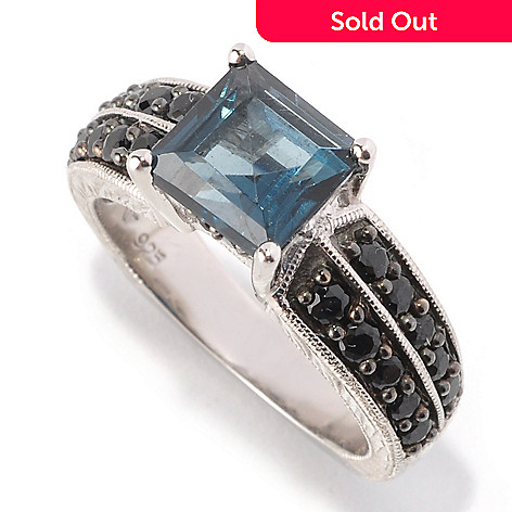 128-815 - Gem Treasures Sterling Silver 2.68ctw London Blue Topaz & Spinel Ring